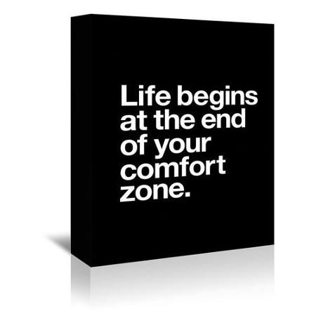 Americanflat Life Begins at the End of Your Comfort Zone Textual Art on Gallery Wrapped Canvas - Walmart.com