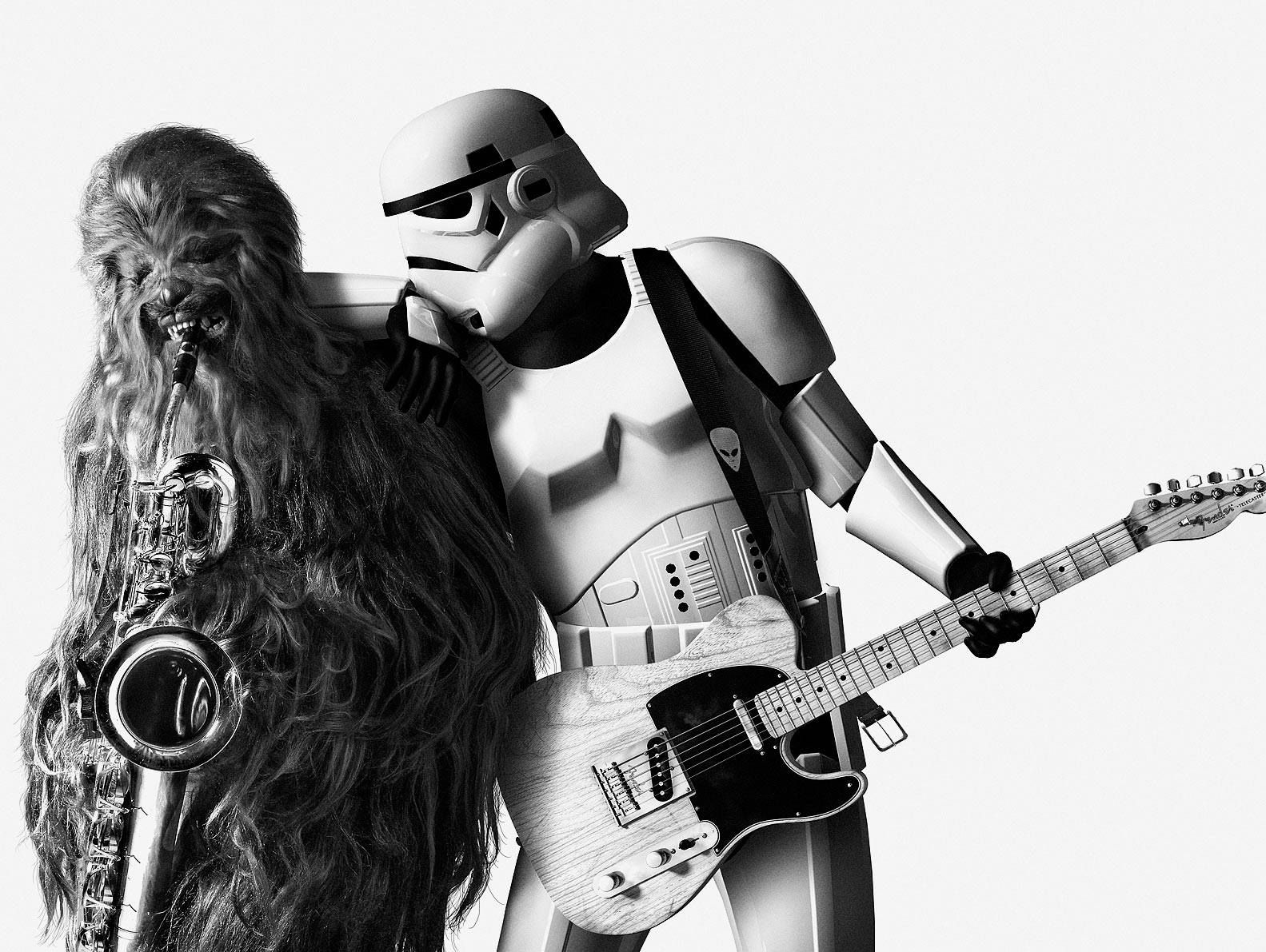 4fb1c660baaf2c Stormtrooper and Chewie like Bruce Springsteen and Clarence Clemons in