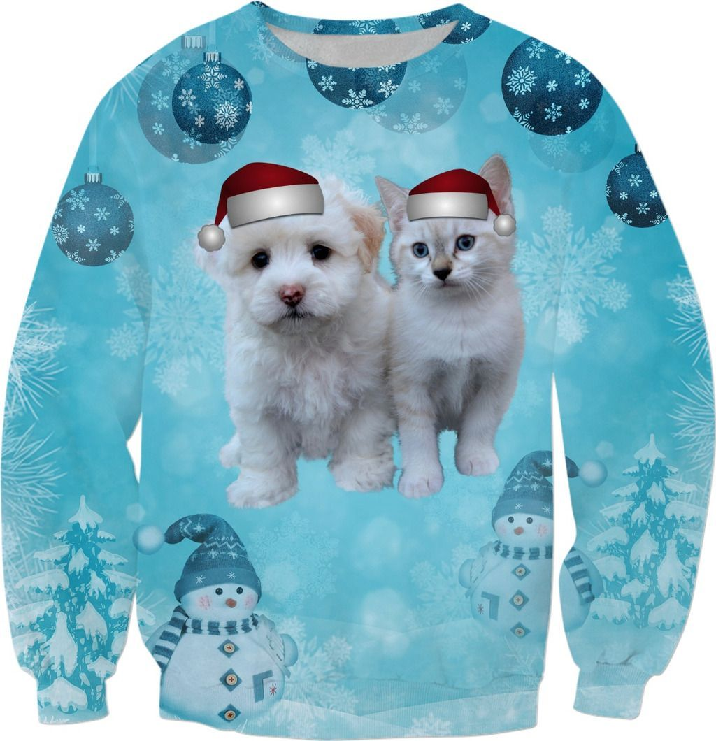 Christmas Dog and Cat Sweatshirt ROXmasContest