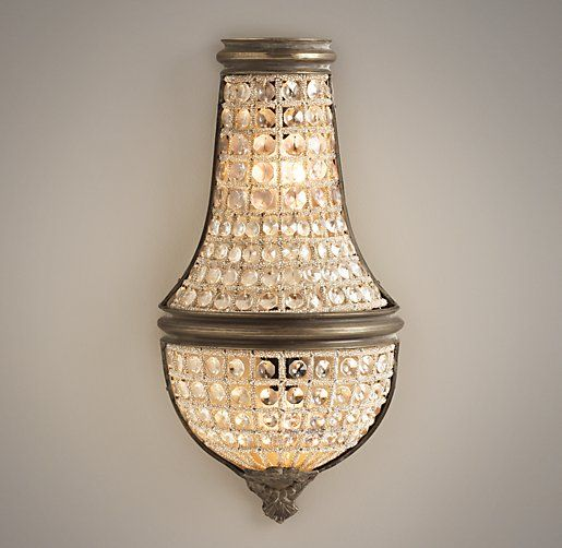 French Regency Crystal Sconce Small Wall – Chandelier Sconces Wall