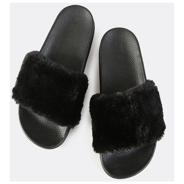 Faux fur slides, Fur slides, Fluffy shoes