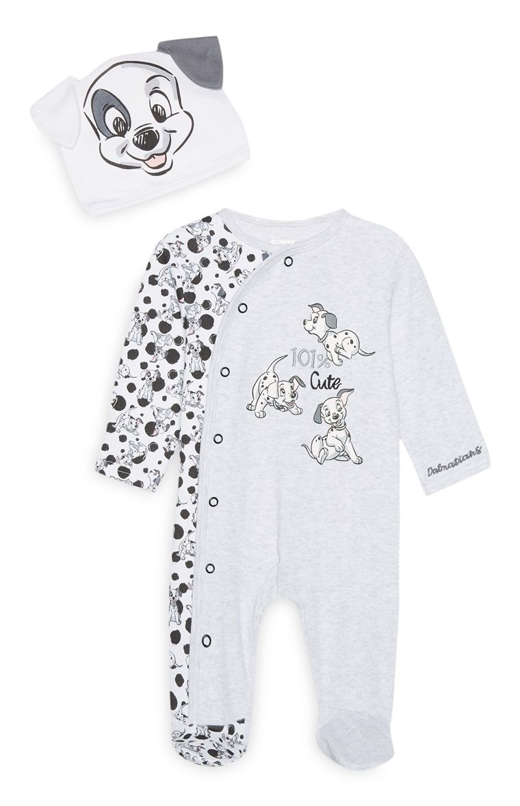 Primark 101 Dalmatian Sleepsuit And Hat Set Disney Baby Clothes Baby Boy Clothes Newborn Baby Clothes