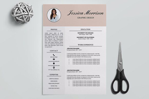 Resume Templates For Pages Resume Template 4 Pages  Jessica Creativework247  Resume