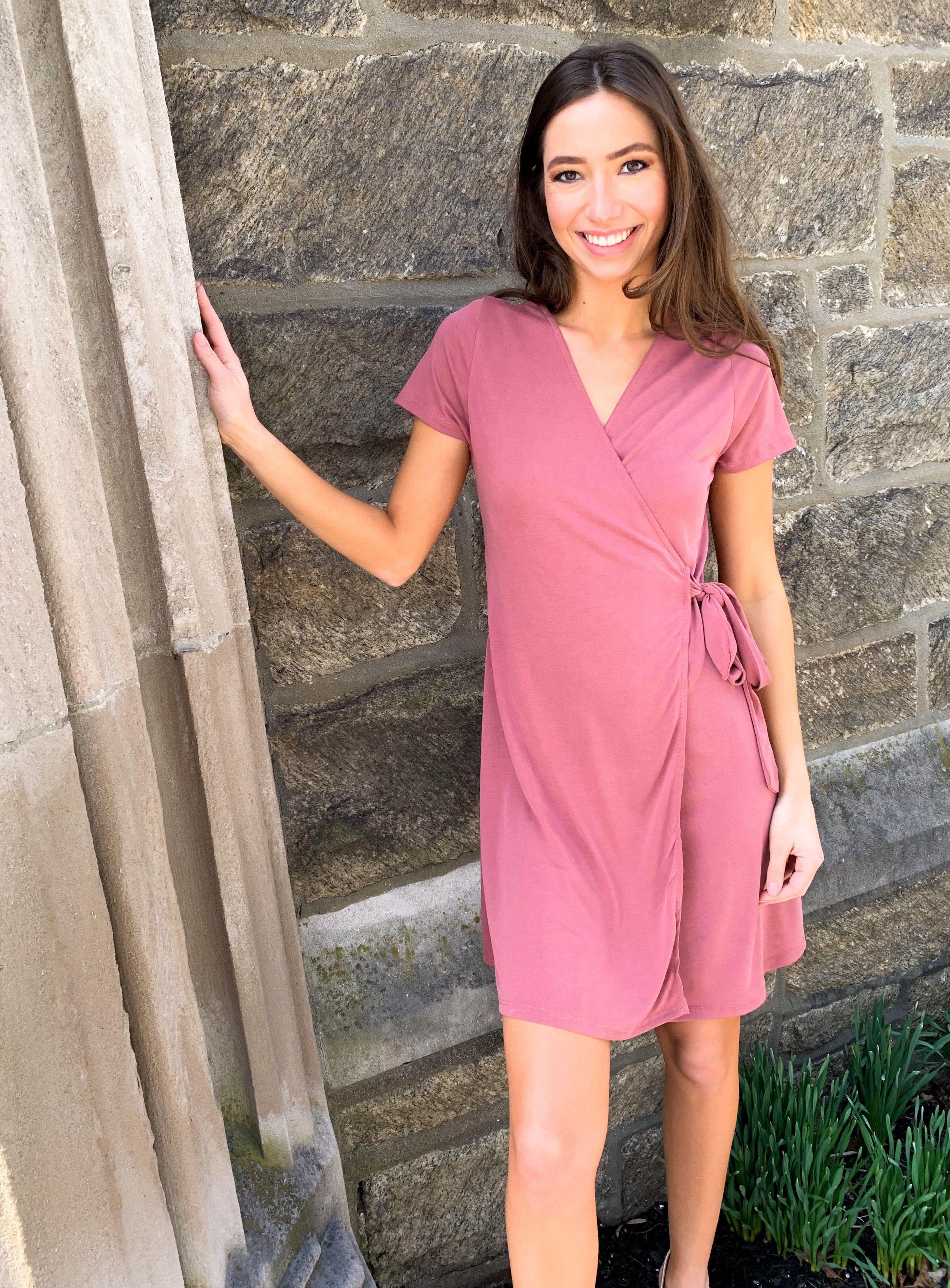 37+ Pink wrap dress ideas in 2021