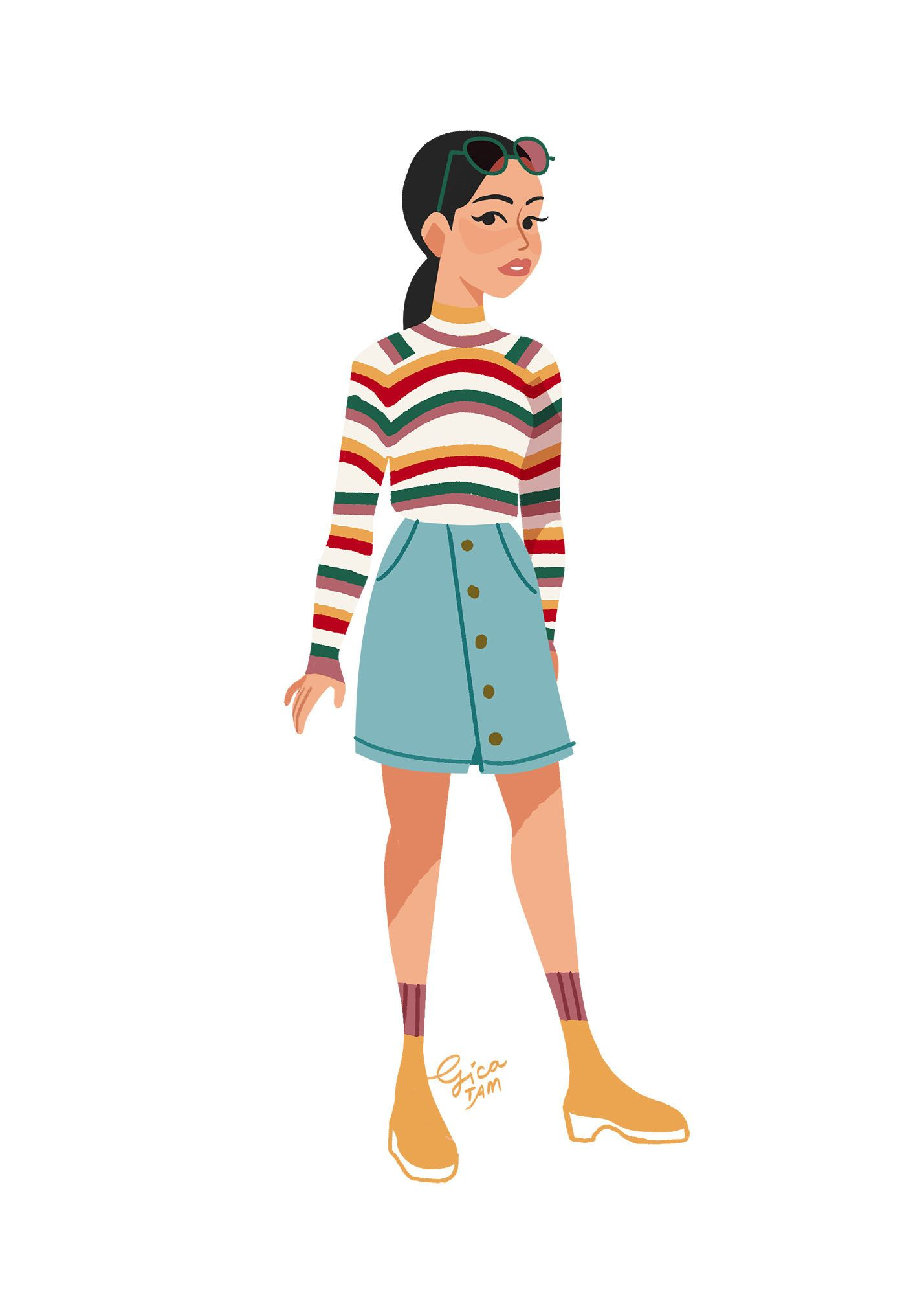 """an artist illustrated all of lara jean's outfits from """"to"""
