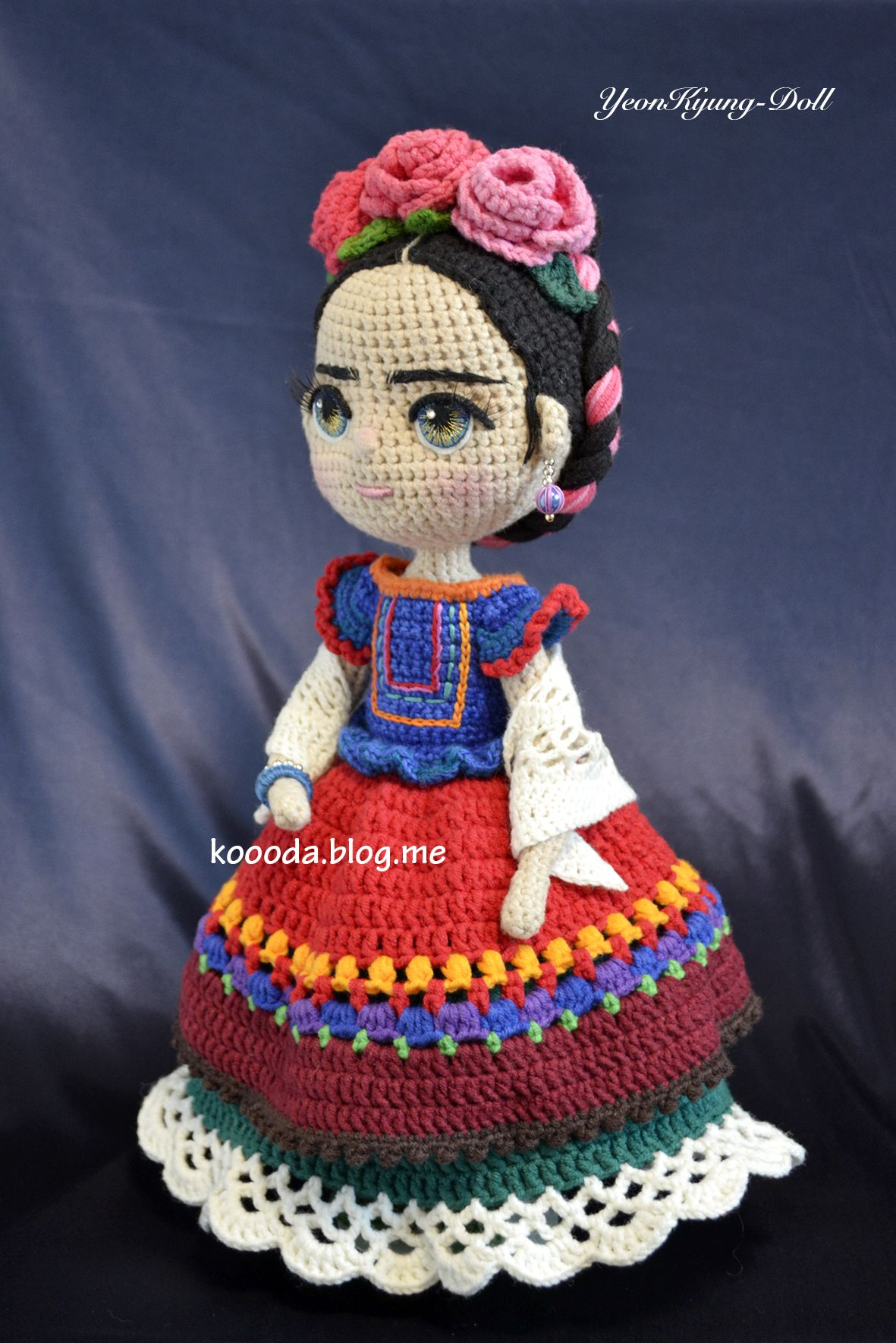 Frida Kahlo. crochet. amigurumi doll | muñecas tejidas | Pinterest ...