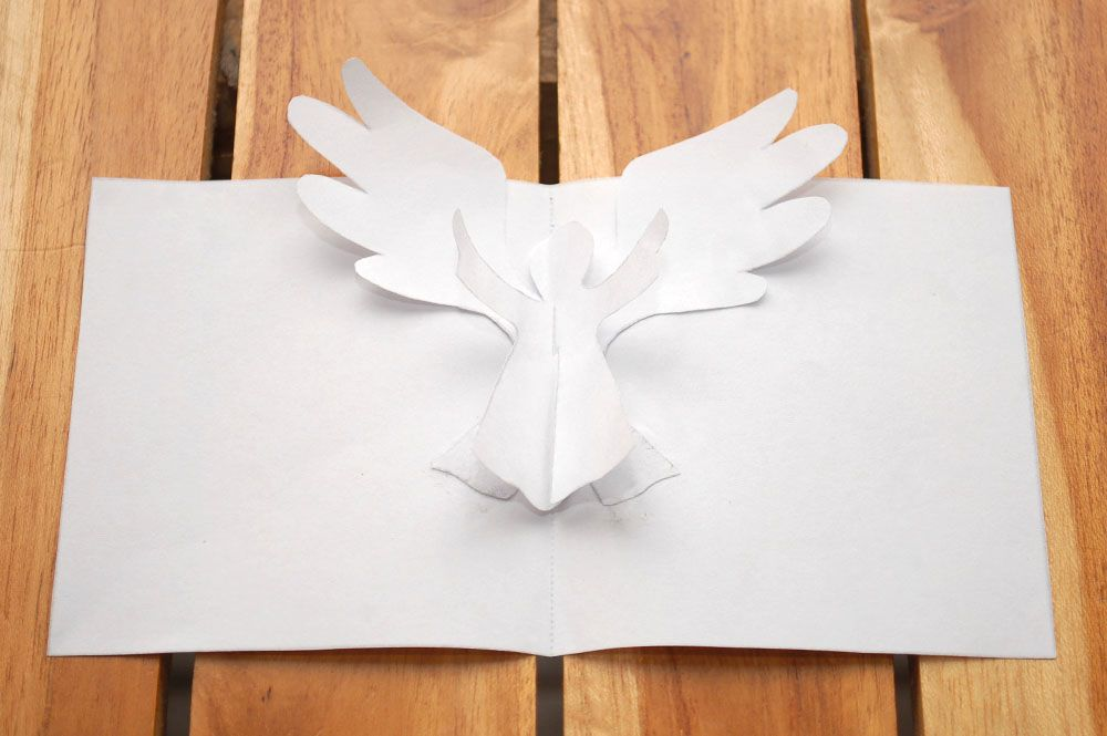 How To Make An Angel Pop Up Card Robert Sabuda Method Pop Up Christmas Cards Diy Christmas Cards Christmas Angels