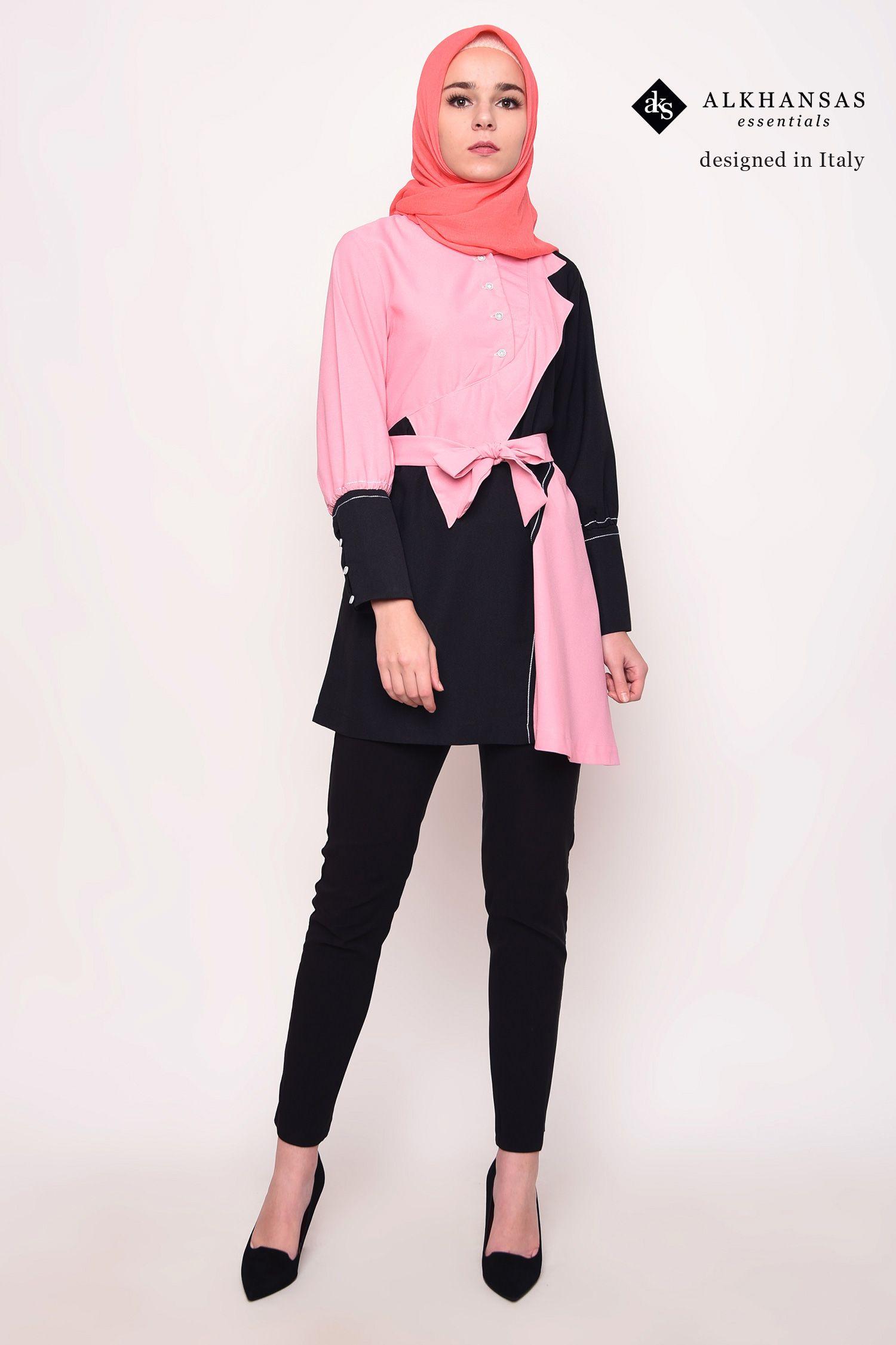 Hijab Fashion Blus Kerja Casual Daily  Blus, Hijab, Hitam