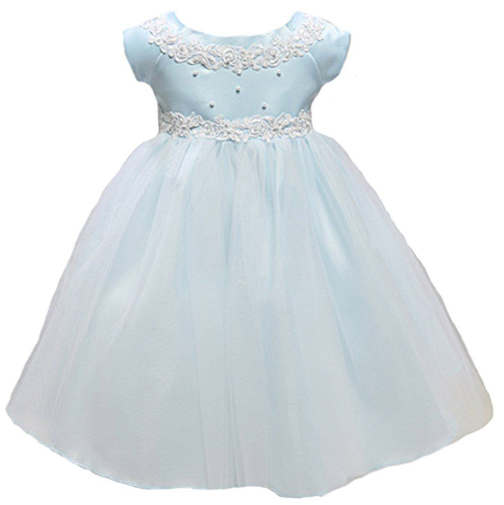 KID Collection Baby-Girls Princess Tulle Dress 6M Sm Blue (Kid B800 ...