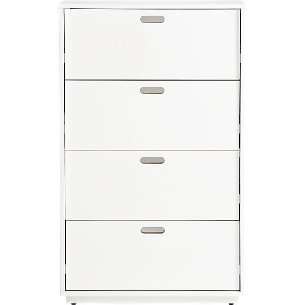 Best Cb2 Gloss White Tall Chest Dimensions 30 Wx18 Dx49 25 H 640 x 480