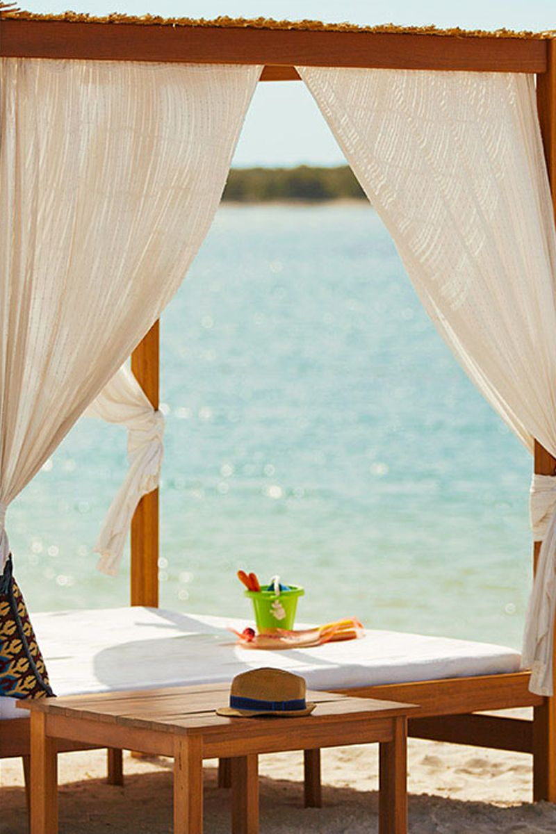 Relaxing Beach Cabana On The In Abu Dhabi