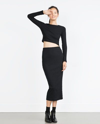 Image 1 of CROPPED T-SHIRT from Zara