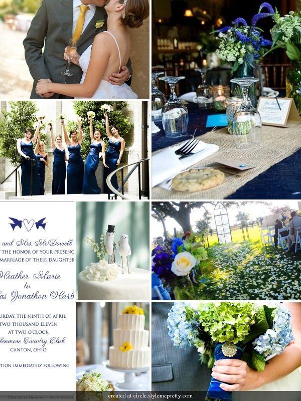 Navy Blue Gray And Orange Wedding Ideas