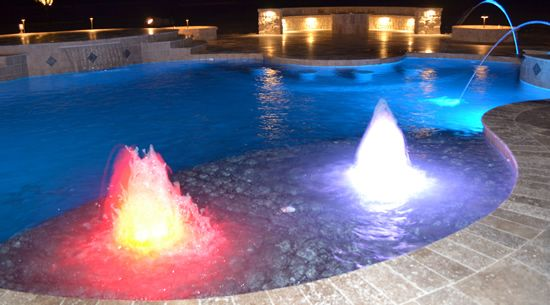 Inground Pool With Tanning Ledge