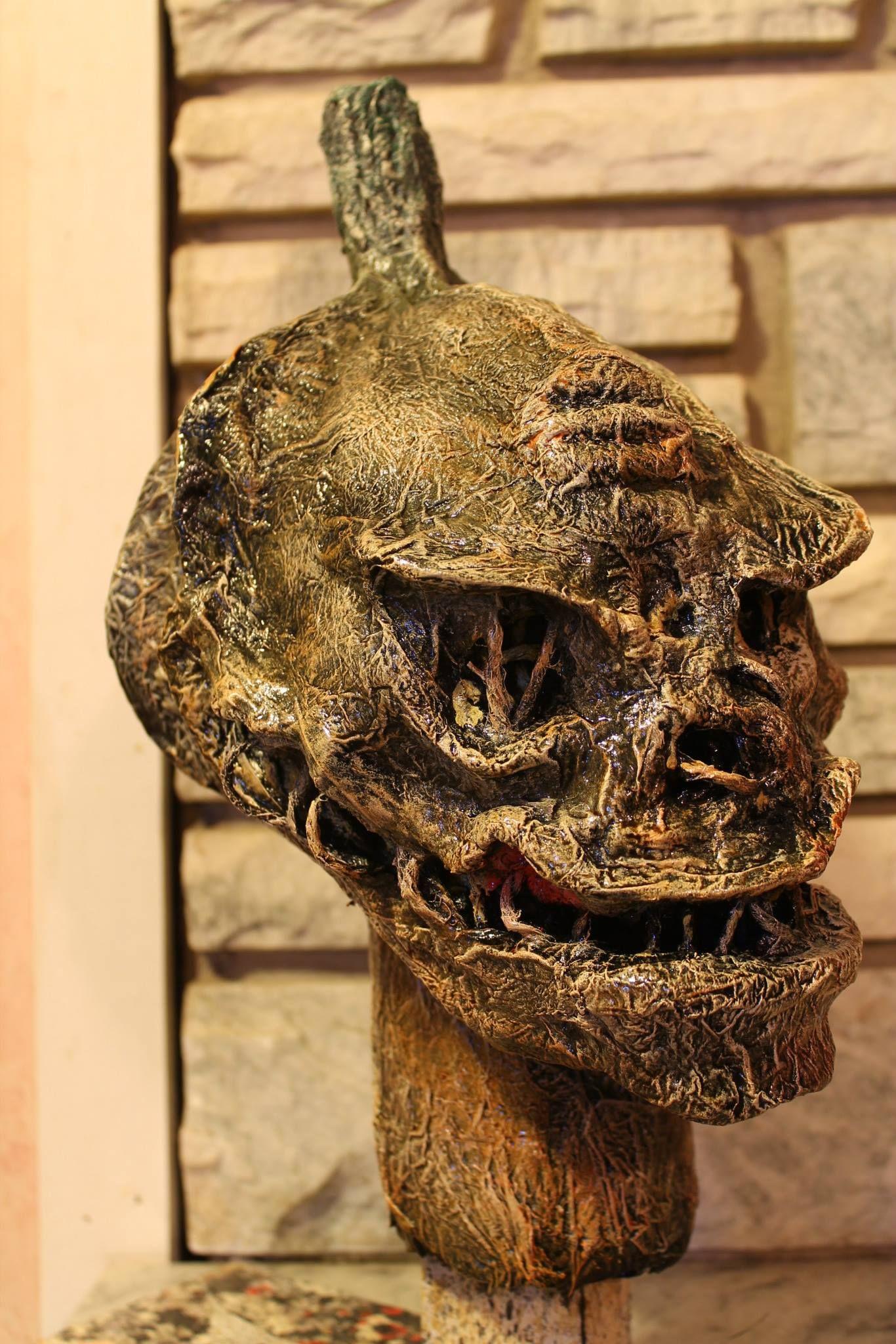 Pumpkin Head - Made out of paper mache