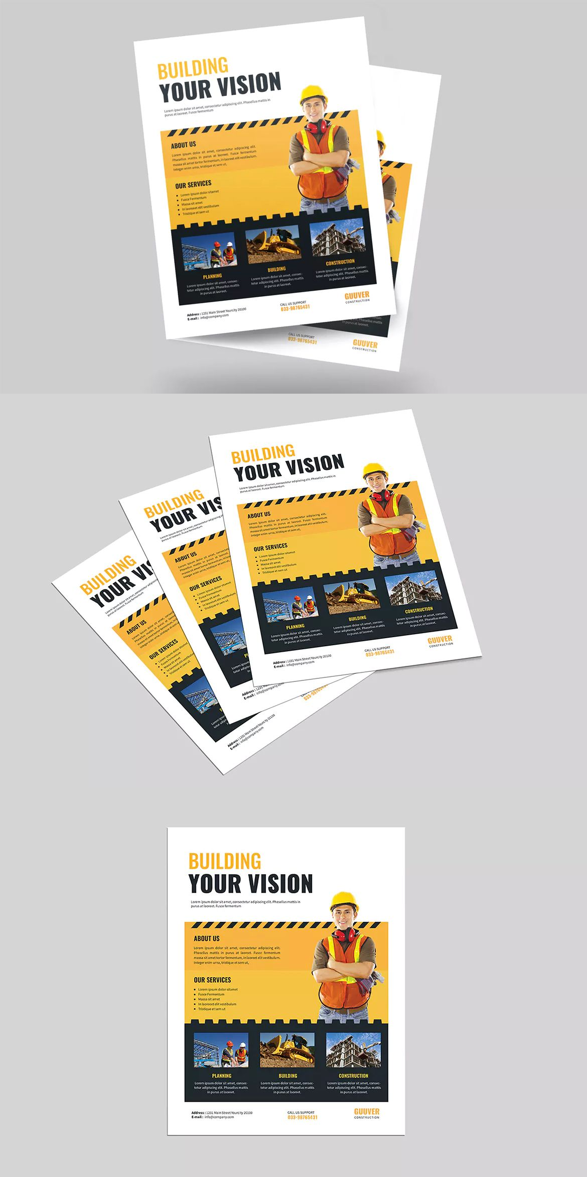 simple construction flyer template psd us letter size flyer