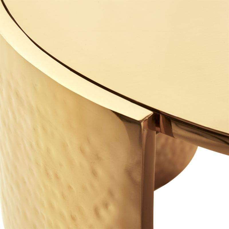 Cuff Hammered Gold Coffee Table Modern Coffee Tables Table Modern