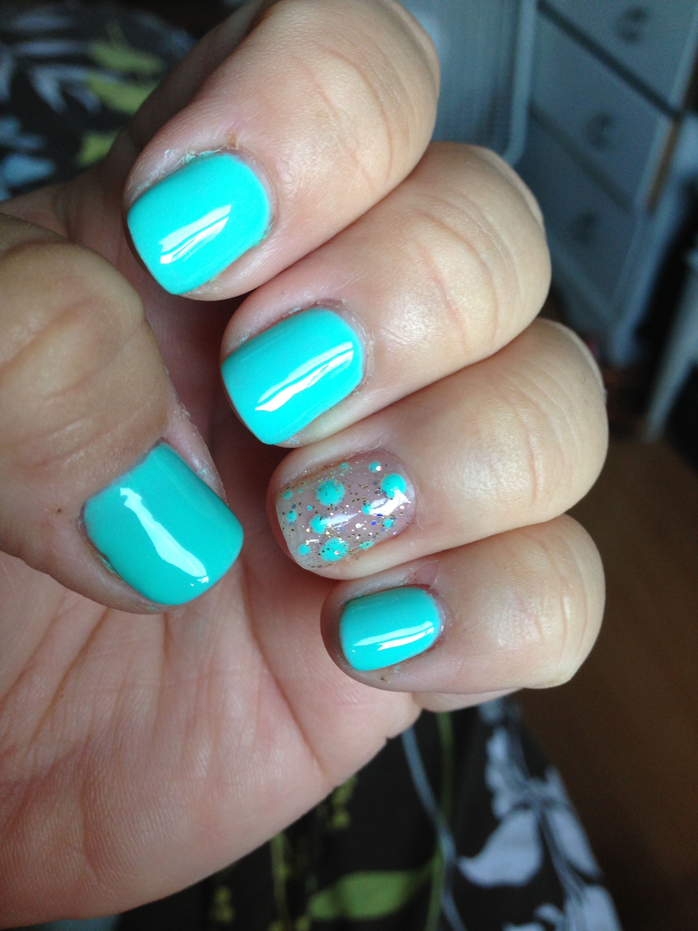 Gorgeous aqua blue gel nails!! I bought some eBay gel polish and ...