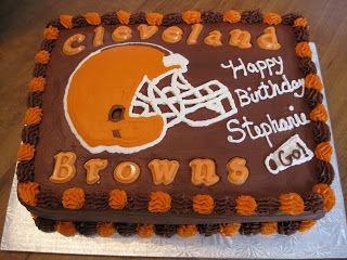 Cleveland Browns Birthday Cake With Images Sports Themed Cakes