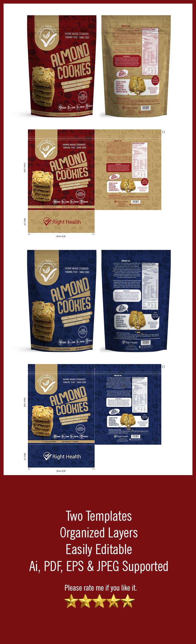 Download Cookies Bag Template Vol 37 Packaging Seller Packaging Snack Fruit Packaging Cookie Packaging