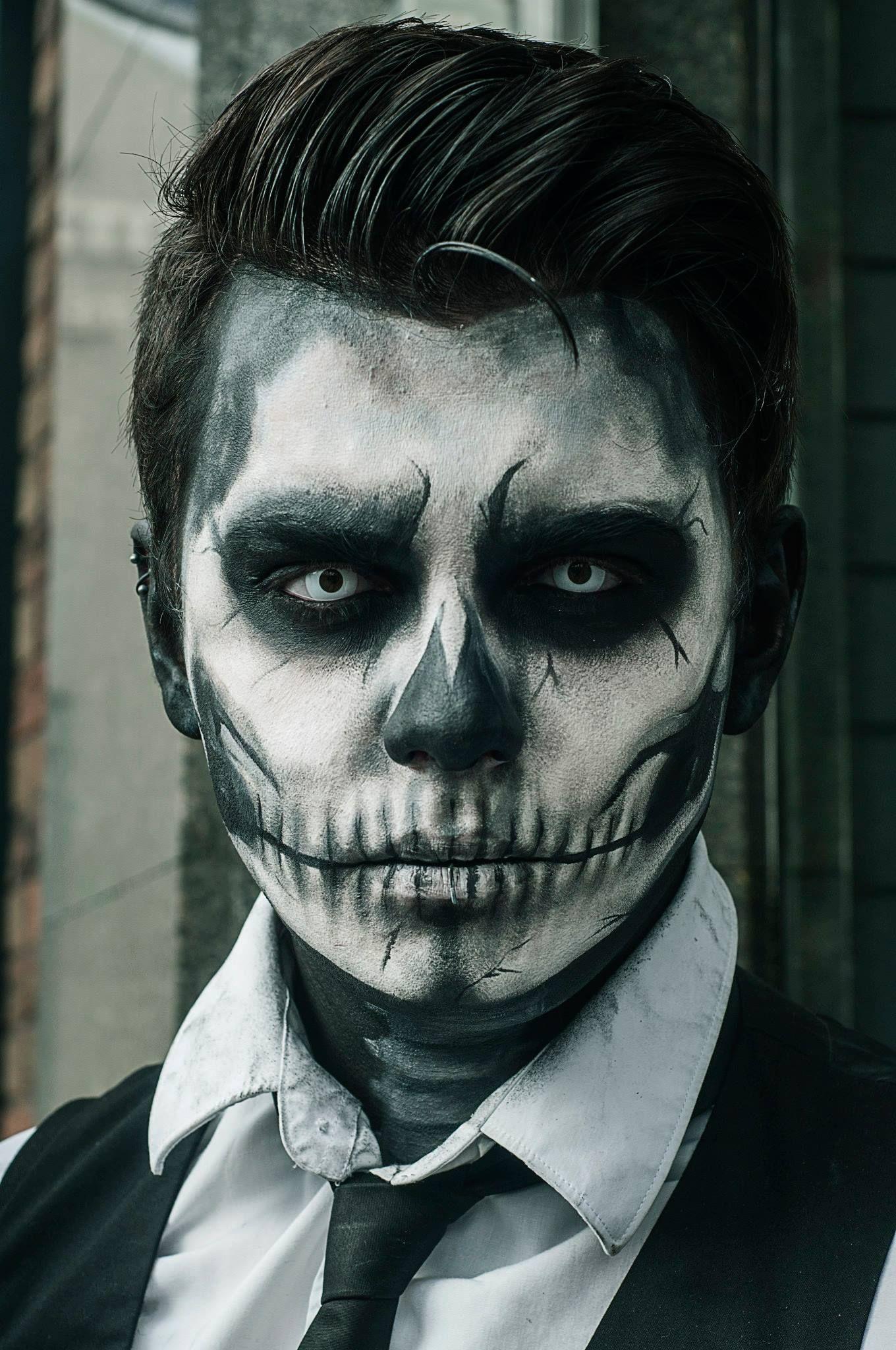 Rico Genest Inspired Skeleton Makeup Dark Halloween Makeup Horror Fantasy Halloween