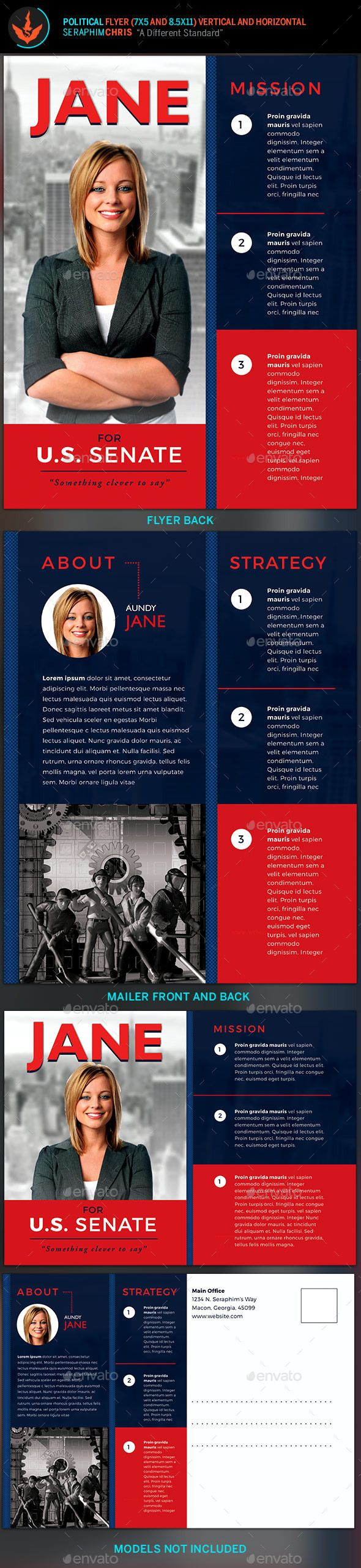 Vote Jane - 5x7 Political Flyer & Mailer Template | Campaña ...
