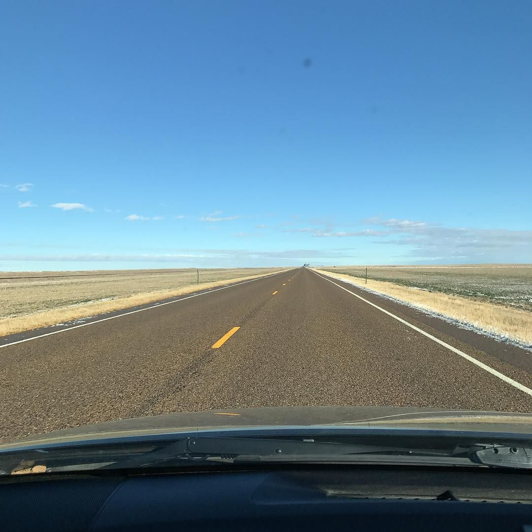 Exciting road in eastern Colorado. 300 miles to home. #RoyboyRoadtrip