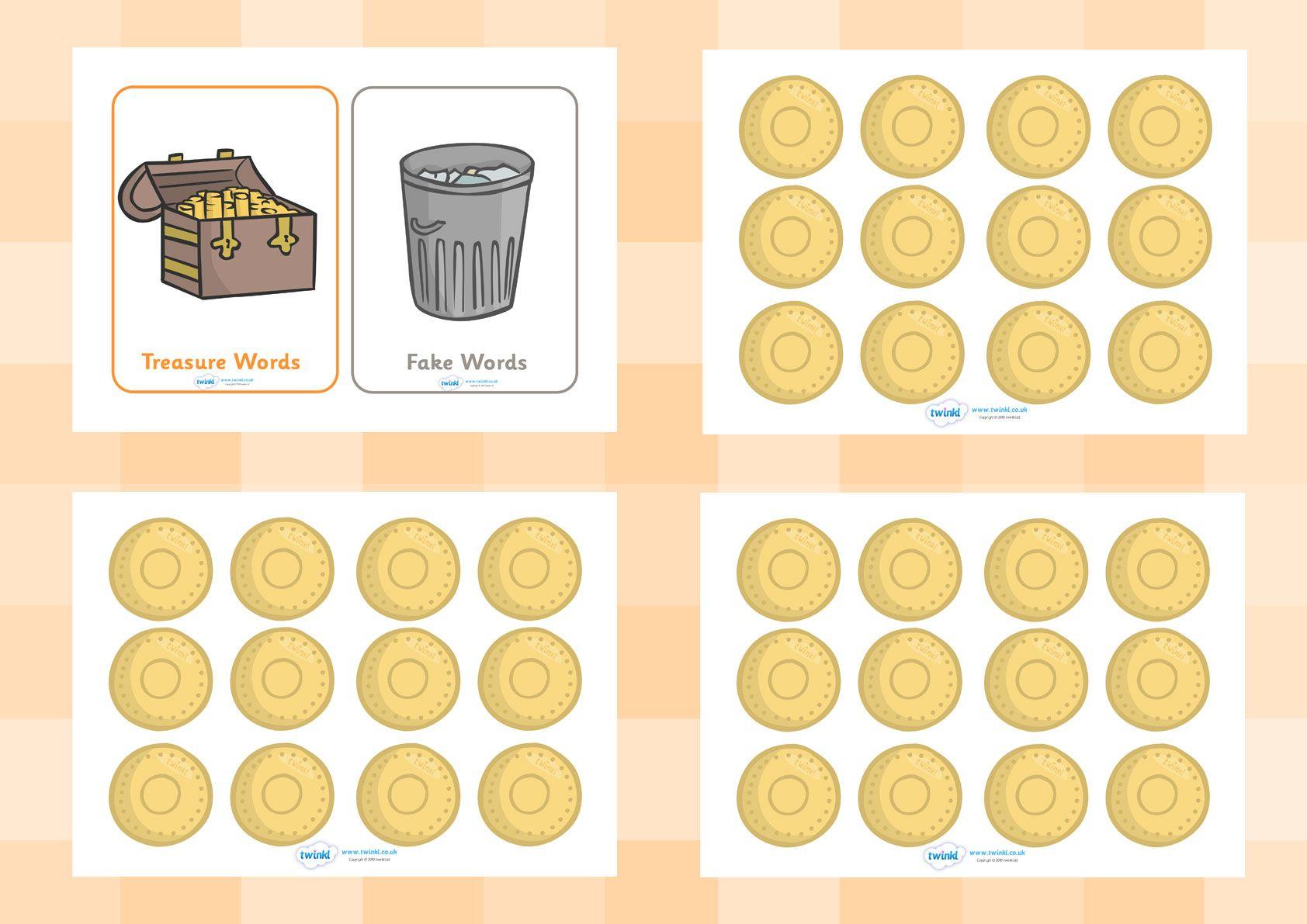 Twinkl Resources Gt Gt Editable Buried Treasure Phonics Game