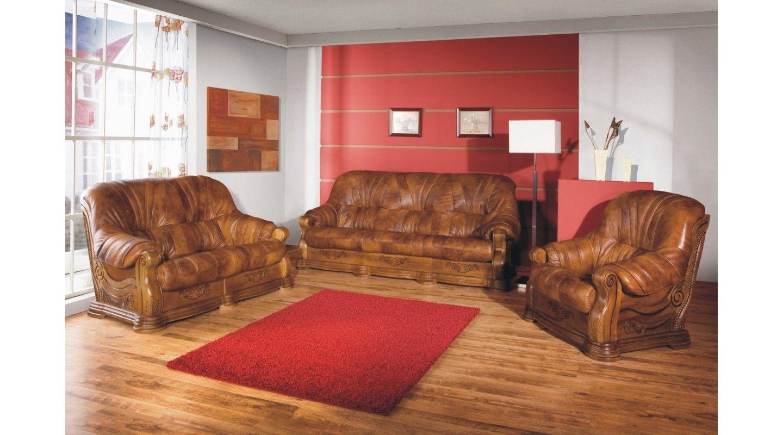 Faron 3 2 1 Set Sofa Couch Echtleder Couch Ledersofa 2 Sitzer Sofa