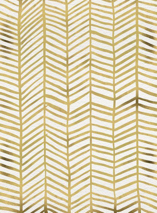 Gold Herringbone Canvas Print By Cat Coquillette Herringbone Art Herringbone Wall Herringbone Throw Blanket
