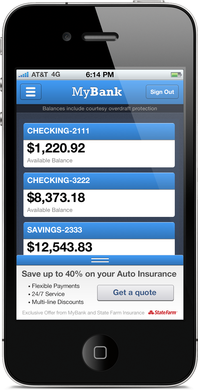 mobile banking / mFoundry (With images) State farm