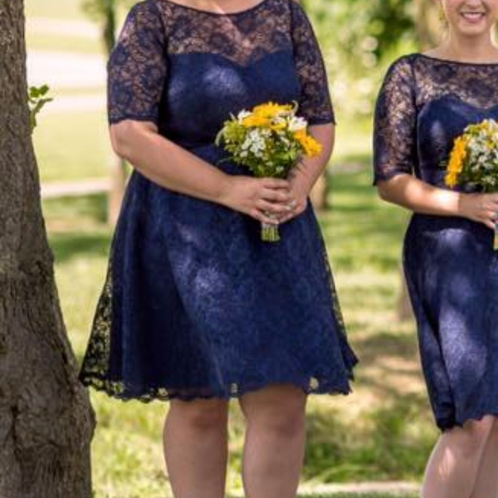 Davidus bridal navy lace bridesmaids dress navy lace bridesmaid