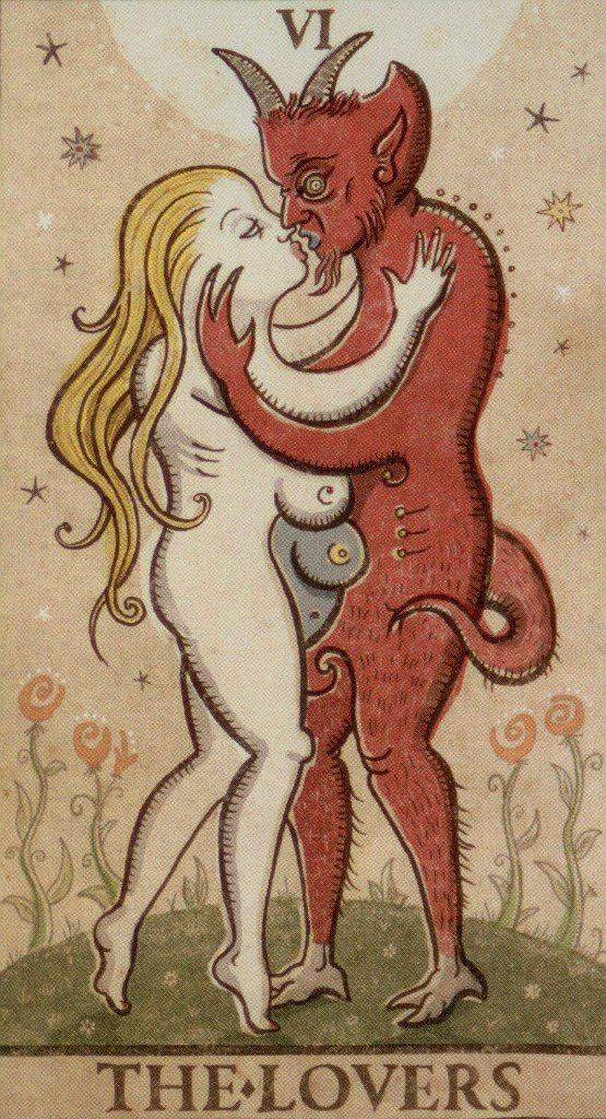 Trionfi Cards: Trionfi Della Luna Lovers