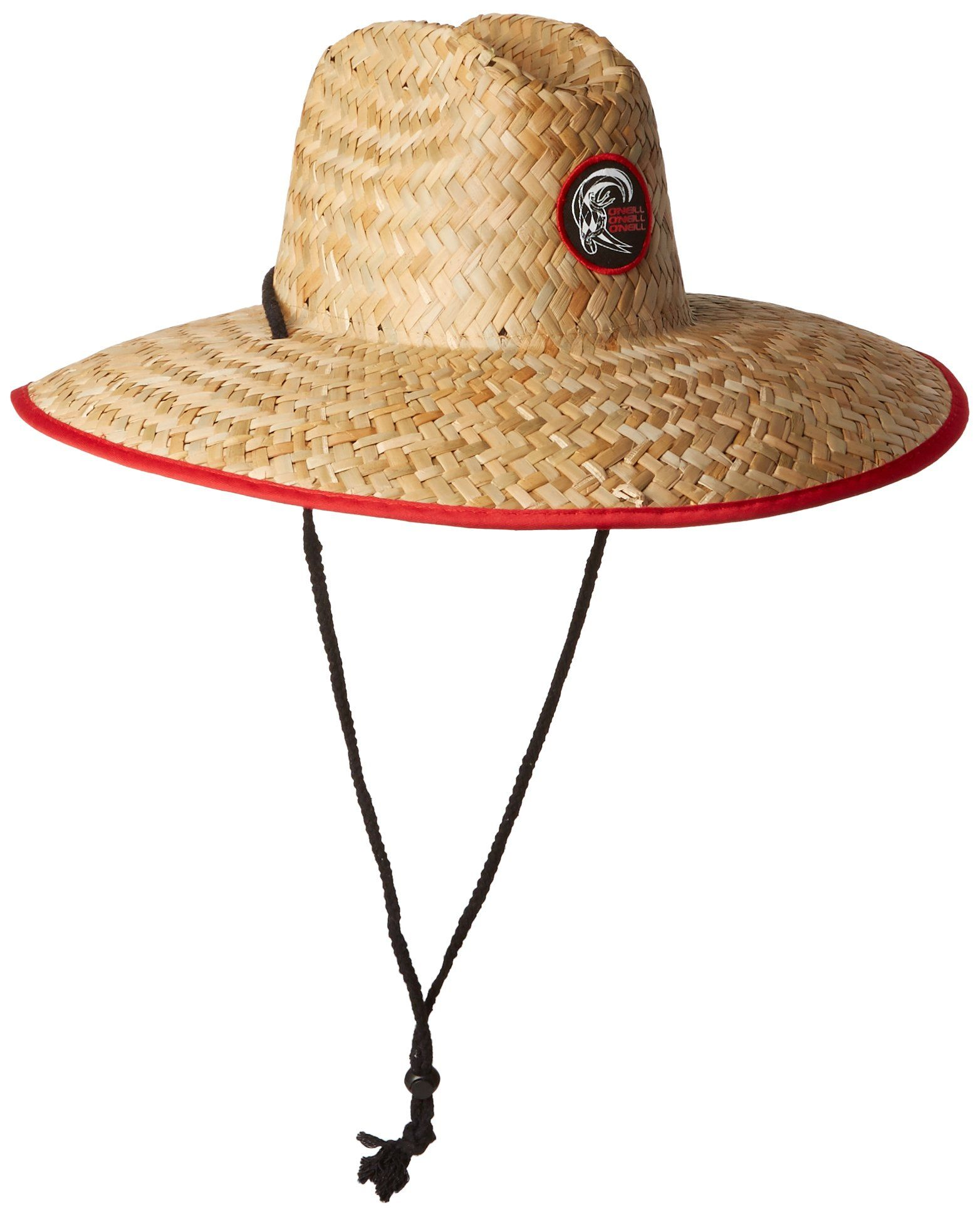 'neill Men' Sonoma Straw Lifeguard Hat Red Size Clothing Work