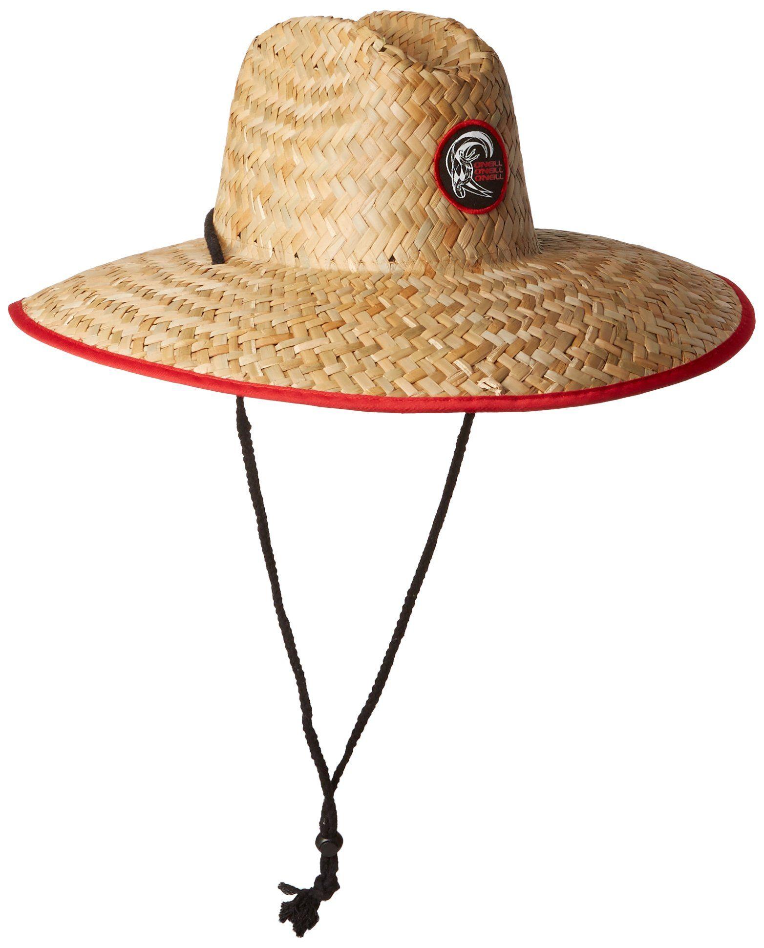 6570bbf216c577 Amazon.com: O'Neill Men's Sonoma Straw Lifeguard Hat, Red, One Size:  Clothing