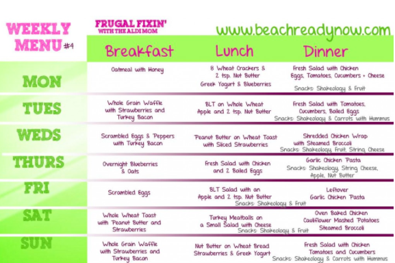 *UPDATED with FOURTH Menu Plan!! I kind of feel like I've been on a mission lately to prove to healthy eating can be completely affordable. When I started Beach Body, I was a little co…