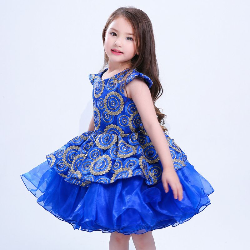 Click to Buy << 2017 Embroidered Flower Girl Dress Kids Pageant Party  Wedding