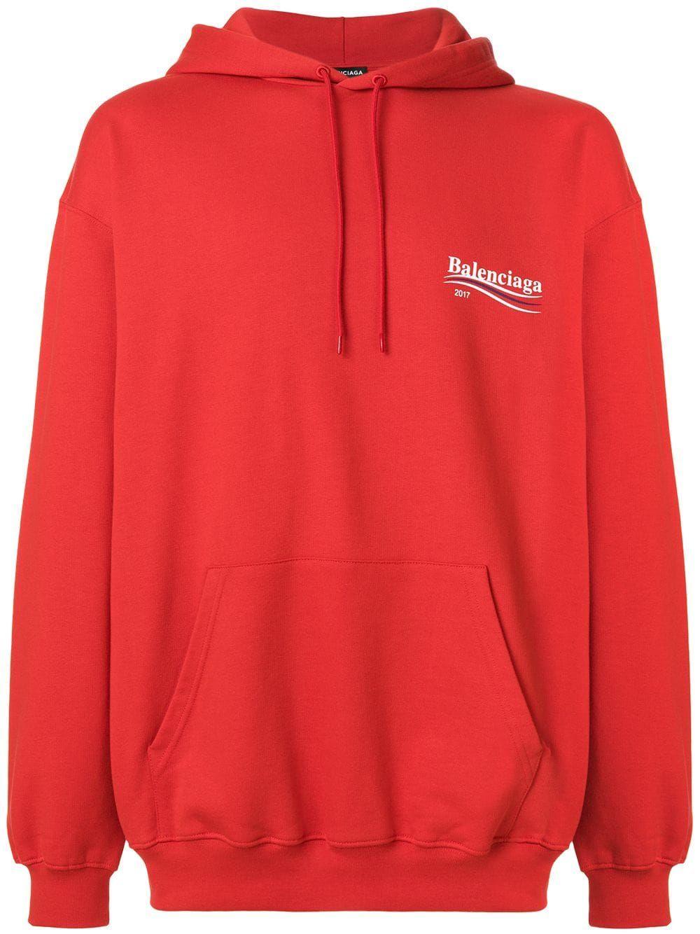 55bf18081a BALENCIAGA BALENCIAGA BALENCIAGA 2017 HOODIE - RED. #balenciaga #cloth