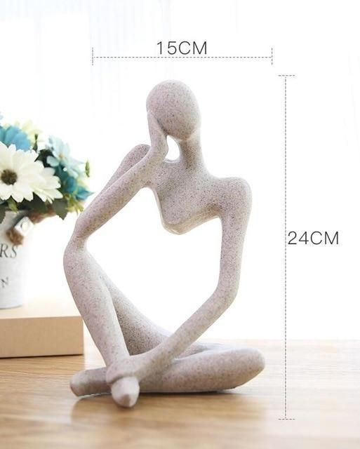 Photo of Creative European Thinking Character  Sculpture Home Decoration – 6