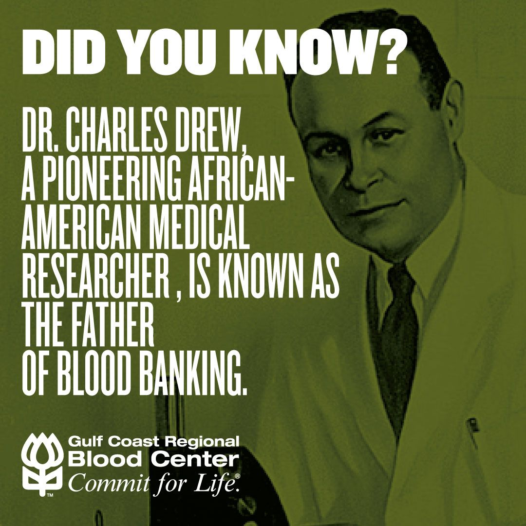 Did you know that Dr. Charles Drew, an AfricanAmerican