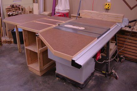 Table Saw Extension Table System By