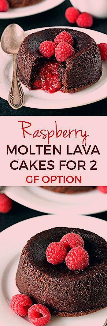 Photo of Raspberry Molten Lava Cakes (gluten-free, dairy-free, whole grain options) – Texanerin Baking