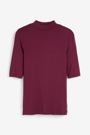 Burgundy Luxe High Neck Top in 2019 | High neck top, Printed