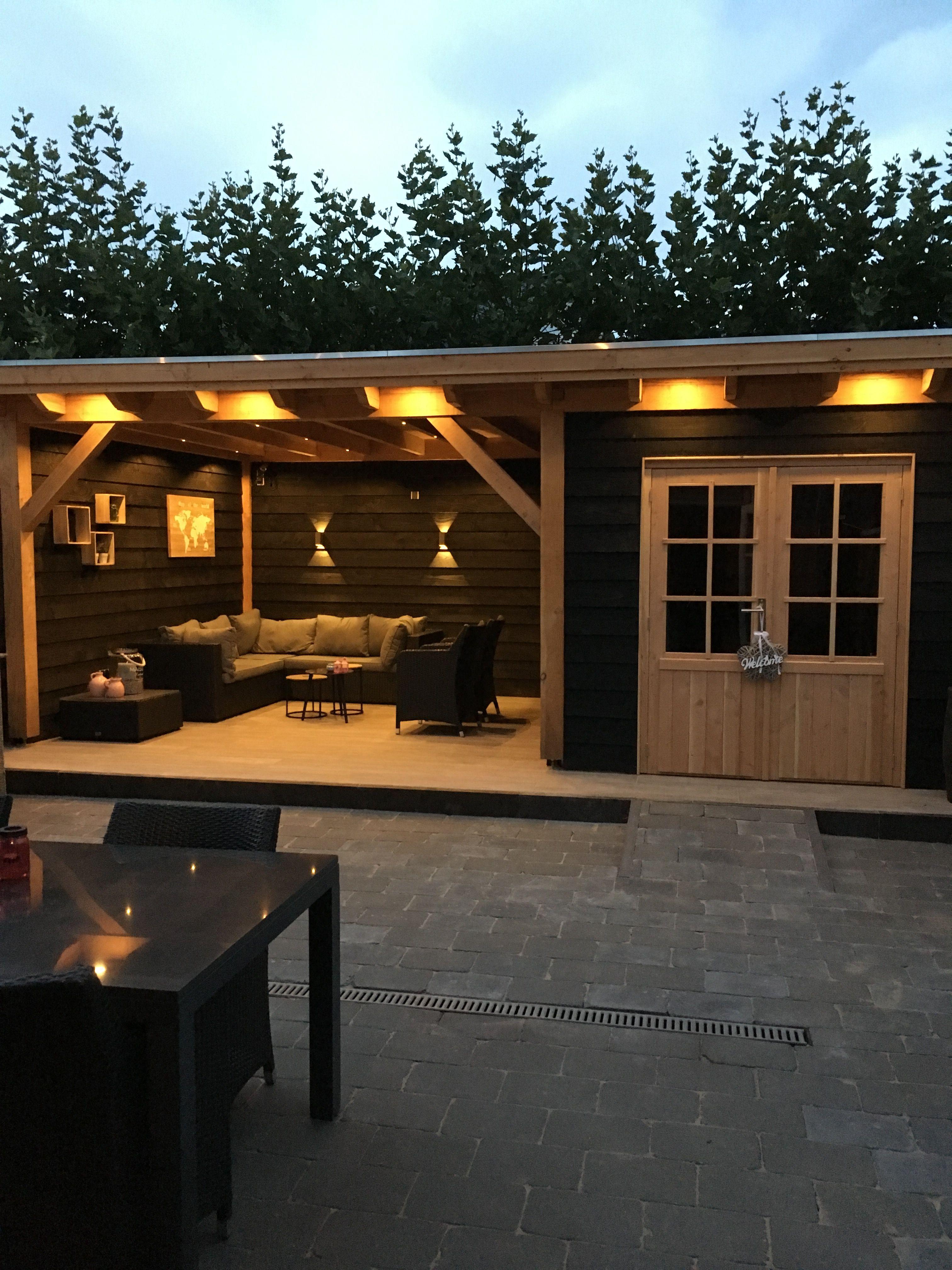 Douglas Overkapping Achtertuin Huis Tuin Ideeen Tuin