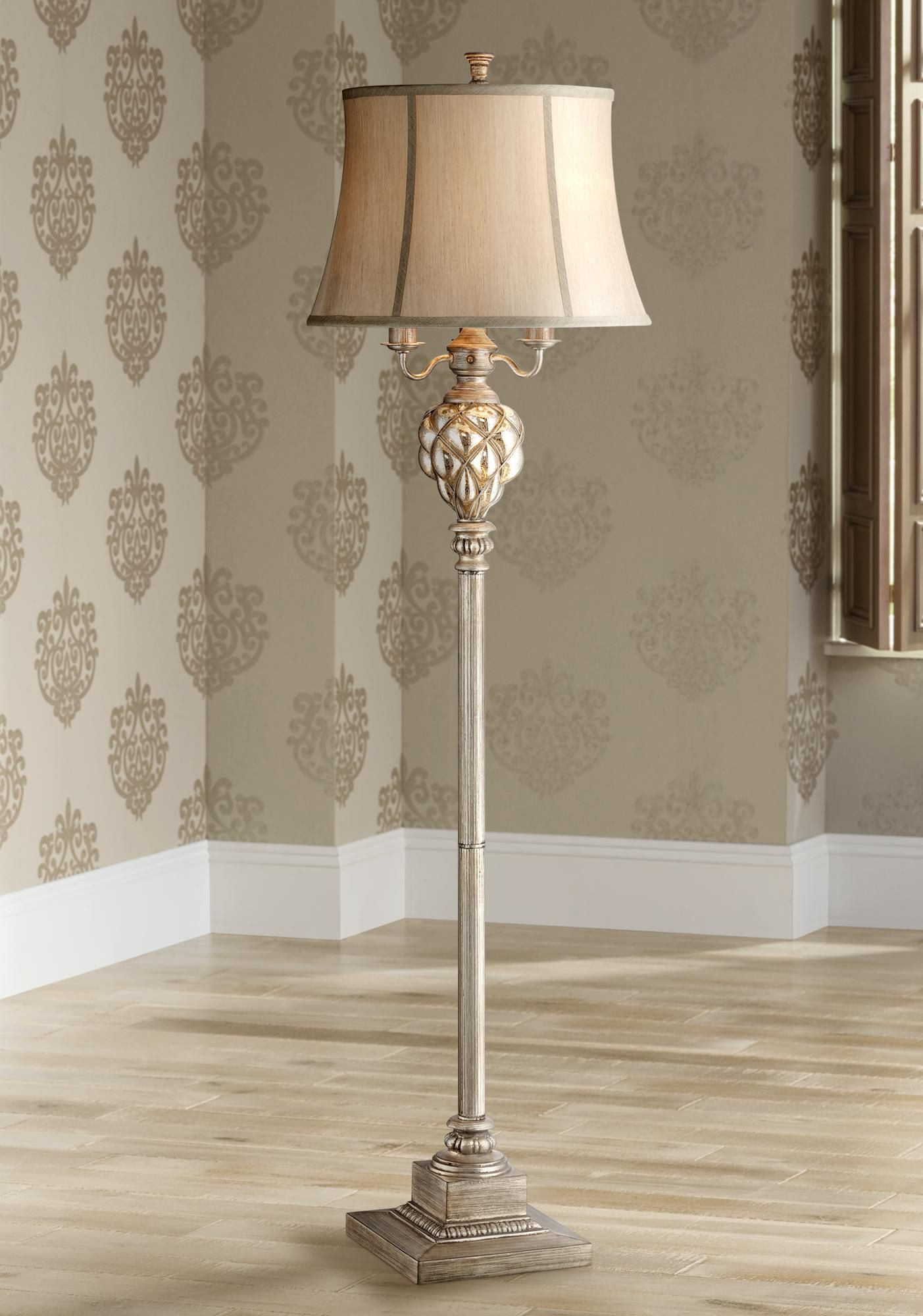 Olde 4 Light Floor Lamp With Led Night Light 3c563 Lamps Plus In 2020 Traditional Floor Lamps Floor Lamp Floor Lights