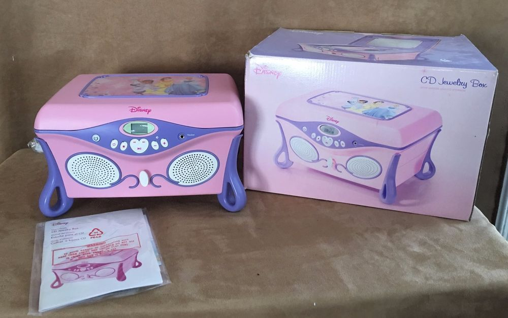 New Disney Princess CD Player Jewelry Box 2004 Beauty the Beast