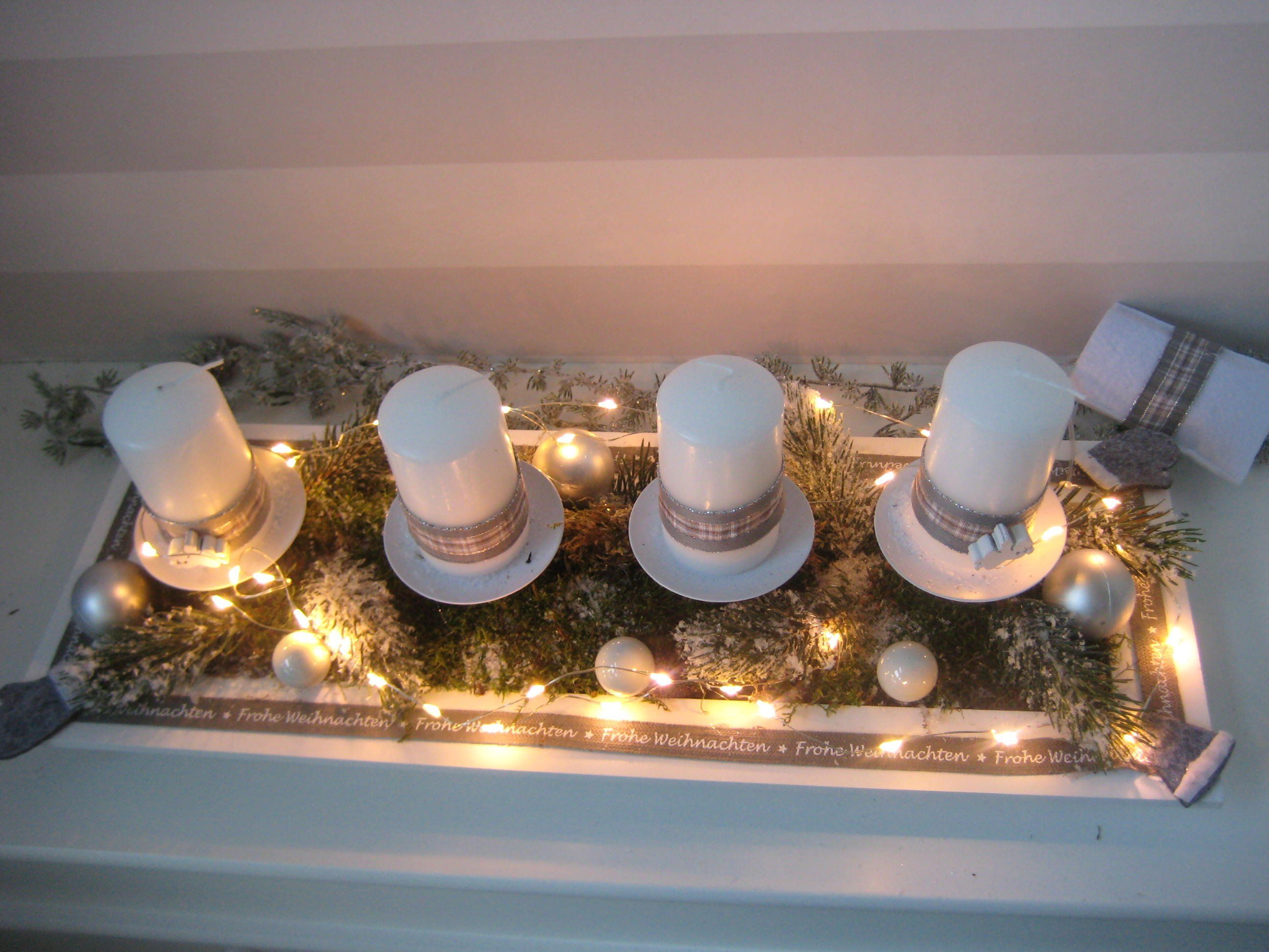 Reusable Led Advent Wreath With Candles Christmas Advent Indoor