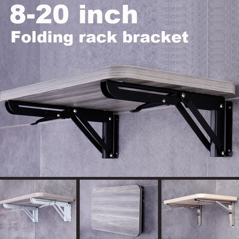 Cheap Brackets Buy Directly From China Suppliers 2 Pack 8 20inch Black Triangle Folding Angle Bracket Adjustab In 2020 Diy Shelf Brackets Angle Bracket Shelf Brackets