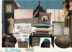 Bleu Petrole Taupe Chocolat Chambre D Amis Deco Chambre Taupe