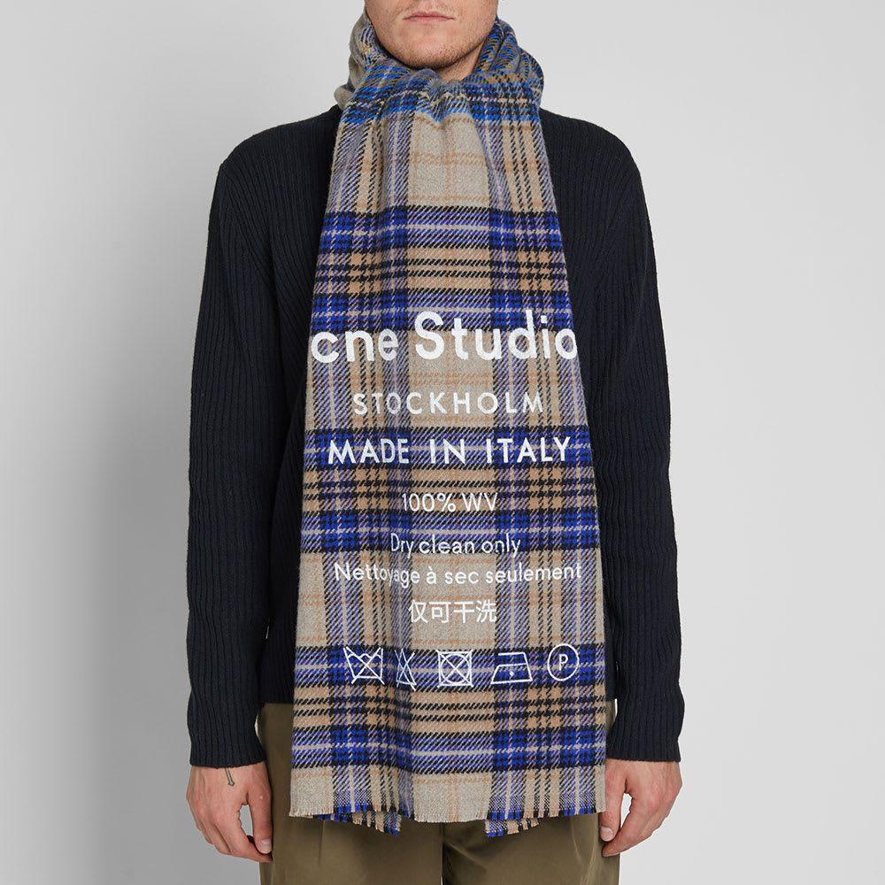 b6db4083675 Acne Studios Cassiar Check Scarf en 2019 | Dress | Checked scarf ...